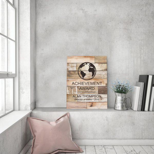Faux Wood Plaque 8