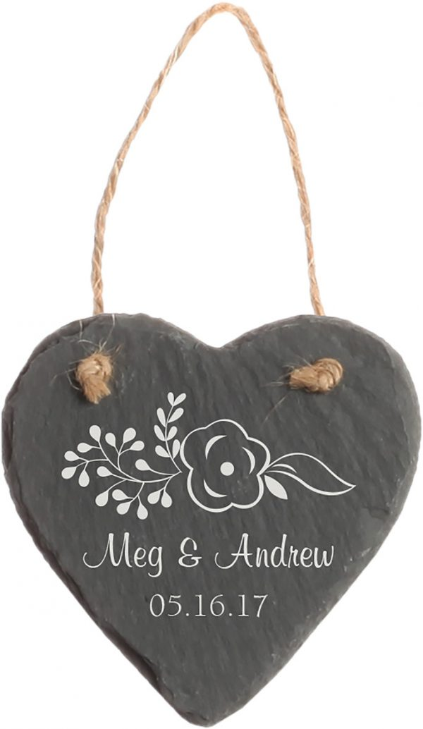 Slate Heart Ornament 1