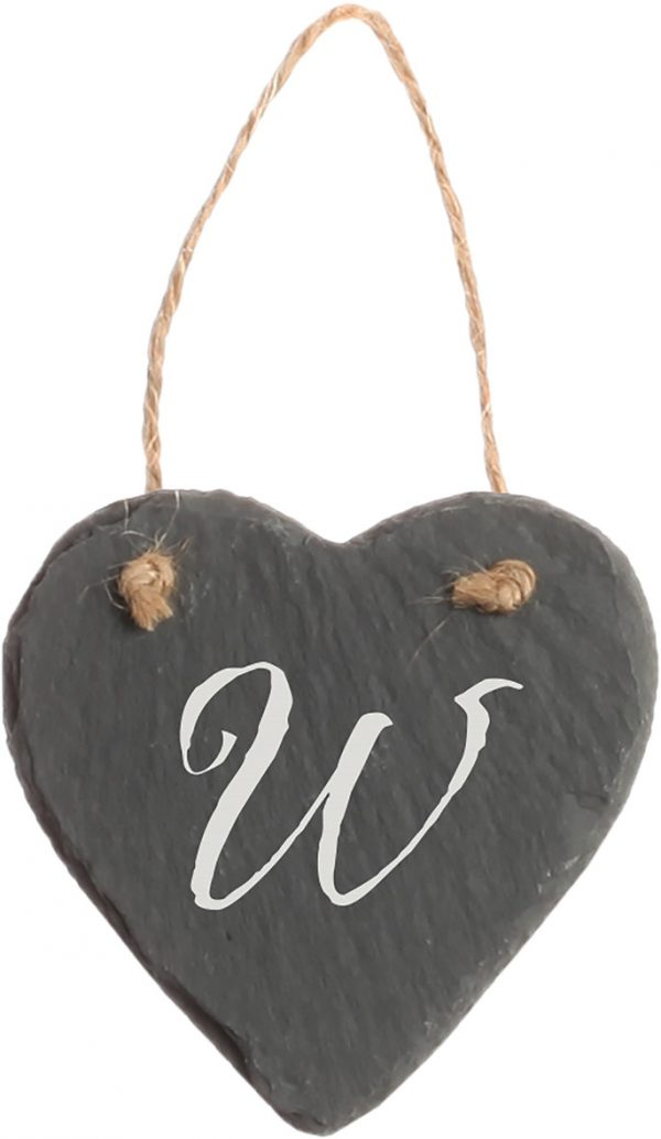 Slate Heart Ornament 2