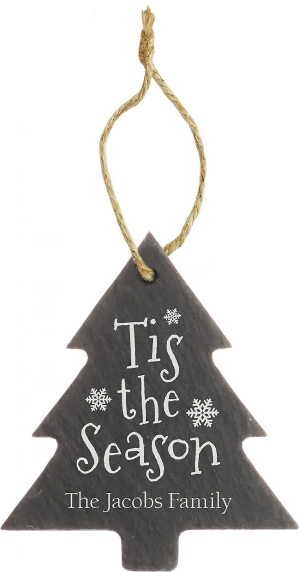 Slate Tree Ornament 1