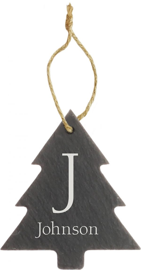 Slate Tree Ornament 2