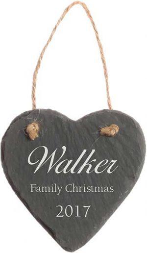 Slate Christmas Ornament