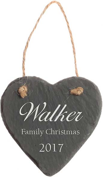 Slate Christmas Ornament