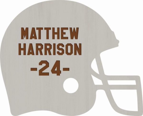 Football Helmet Sign 3