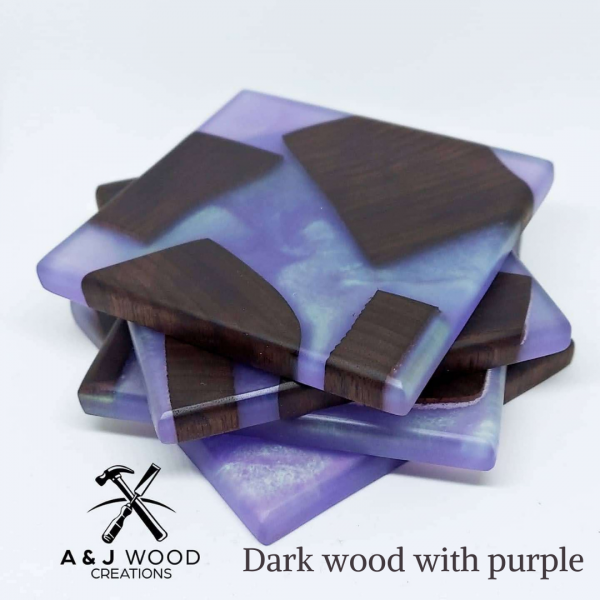 Handmade Wood & Epoxy Coasters 1