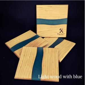 Handmade Wood & Epoxy Coasters 11