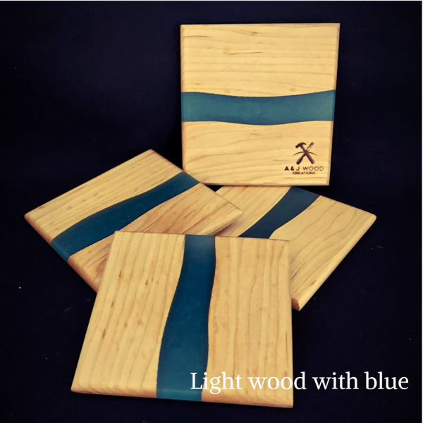 Handmade Wood & Epoxy Coasters 4