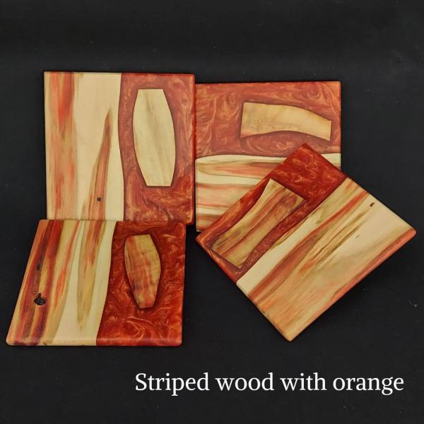 Handmade Wood & Epoxy Coasters 2