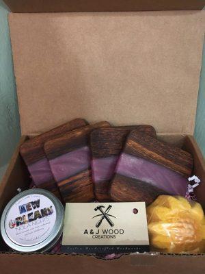 A&J Wood Coaster Gift Box 1