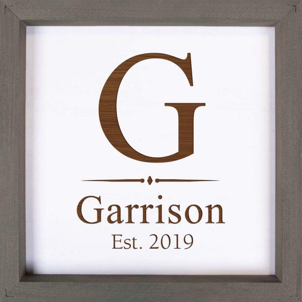 Framed Sign- Grey 1